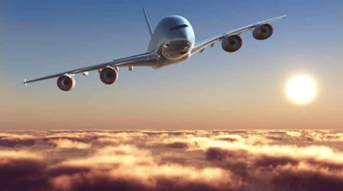 Sonnen-Energie für ein Flugzeug