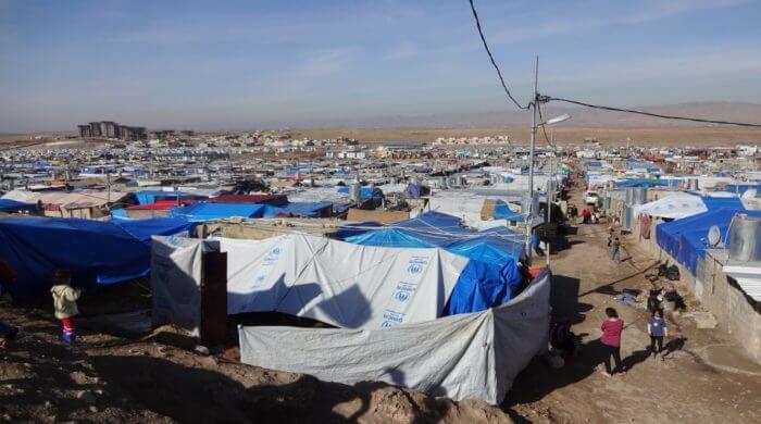 Flüchtlingscamp für Menschen aus Syrien