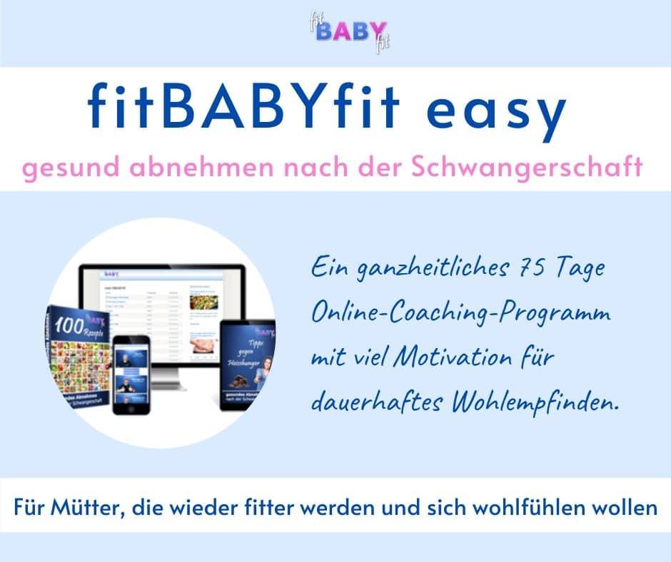 fitBABYfit easy – gesund abnehmen nach der Schwangerschaft