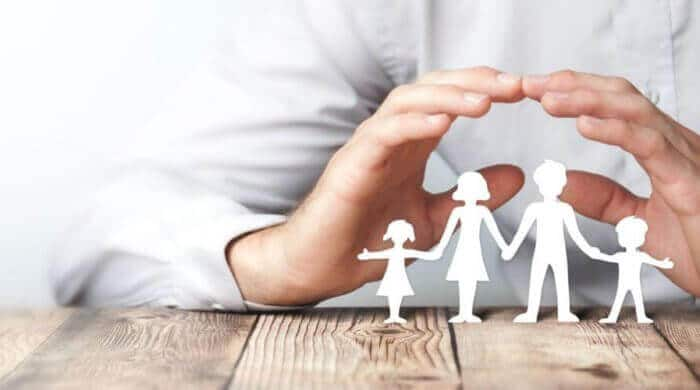 Absicherung für die Familie