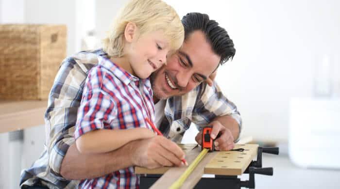 Heimwerken mit Kindern
