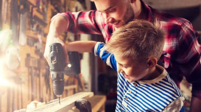Sicherheit steht beim Heimwerken mit Kindern im Vordergrund