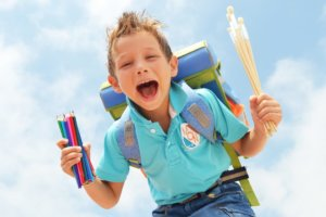 Tasche gepackt_ Gerade am ersten Schultag sollte nichts vergessen werden