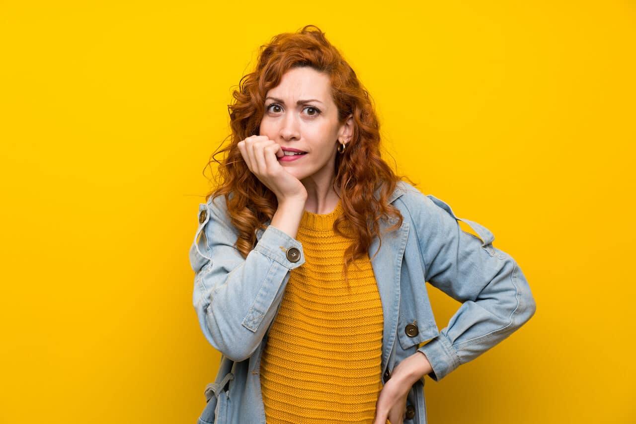 Zervixschleim gelber Ausfluss in